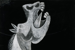 14 dying horse study guernica