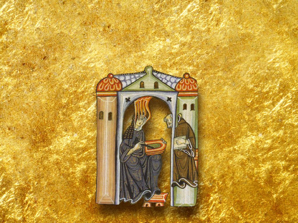 Hildegard golden paint