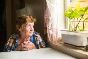 eenzame bejaarde